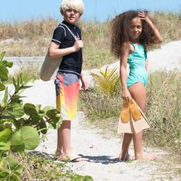 Palmes en caoutchouc naturel pour enfants - Menthe