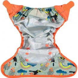 Culotte de protection pour couches lavables - Taille unique velcro - Toucans