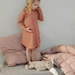 Couette lit bébé Jalle - Stripe: Sandy & tuscany rose