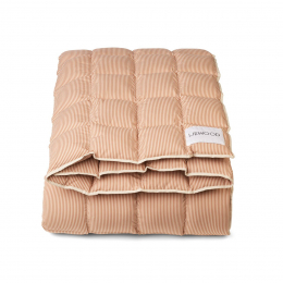 Couette lit Osvald - Stripe: Sandy & tuscany rose